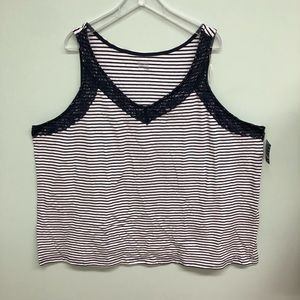 Basic Editions Lace Tank (PM836)